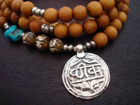 Turquoise Sandalwood Good Health Mala