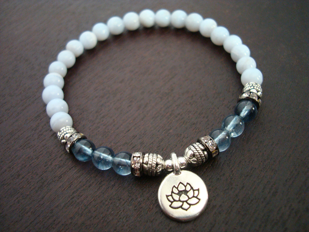 Women's Kyanite & Blue Lace Agate Bracelet