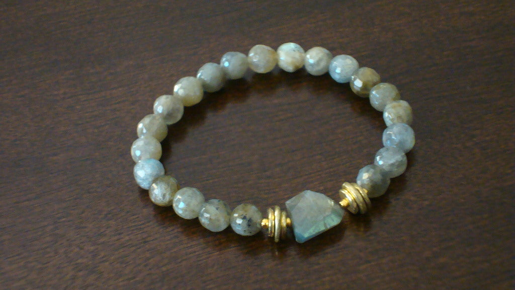 Women's Labradorite Power Mala Bracelet
