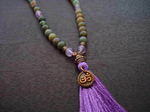 Fancy Jasper Tassel Mala