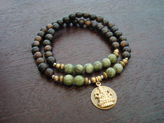 Protection & Prosperity Wrap Mala Bracelet