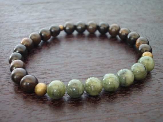 Men's Protection & Prosperity Mala Bracelet