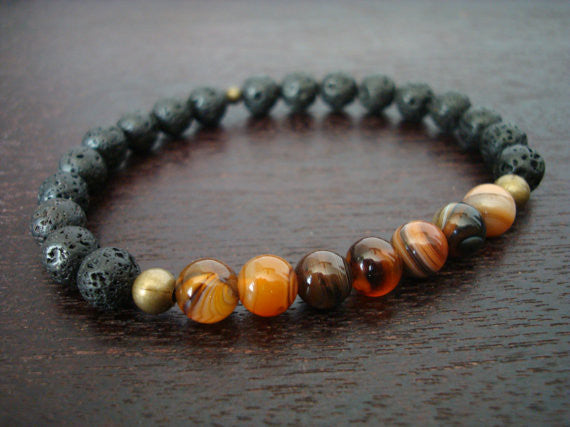Men's Strength & Positivity Mala Bracelet