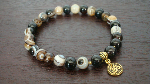 Men's Sardonyx Strength Mala Bracelet