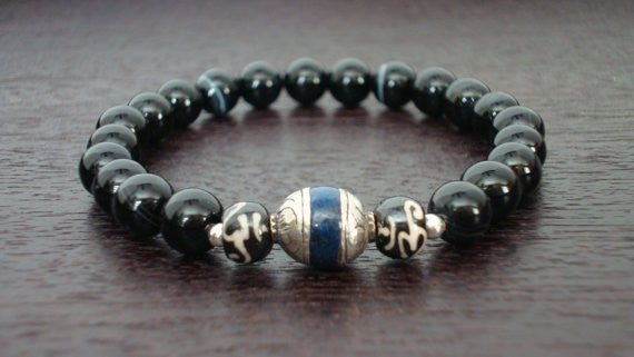 Men's Strength & Wisdom Mala Bracelet