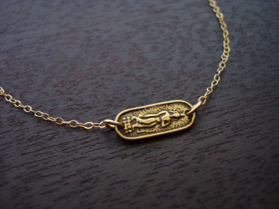 Sideways Buddha Necklace