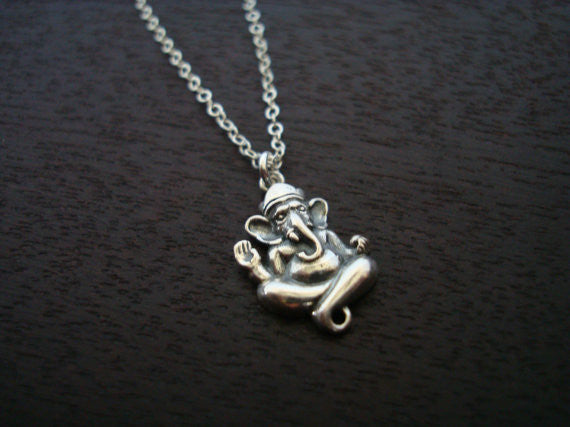 Sterling Silver Ganesha Necklace
