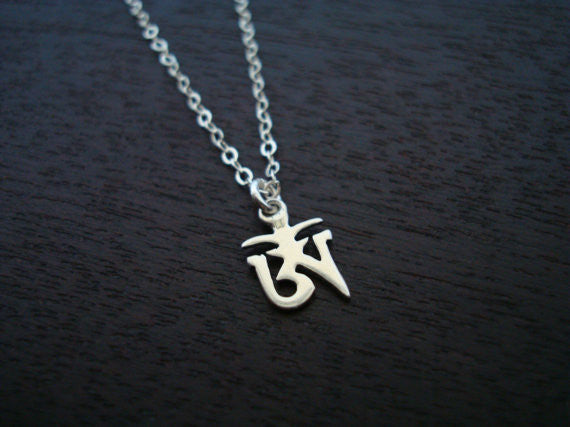 Sterling Silver Tibetan Om Necklace