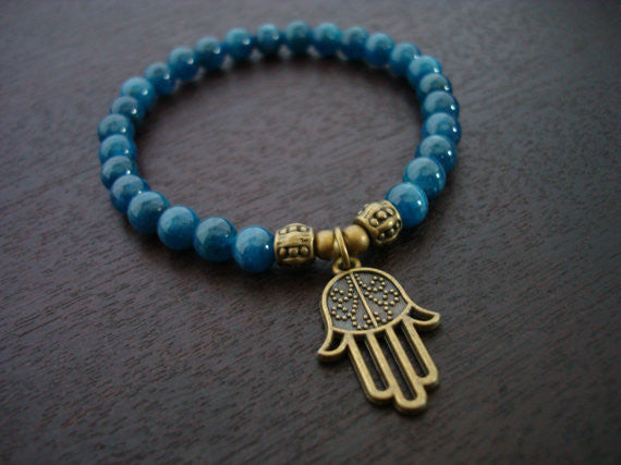 Women's Apatite Protection Mala Bracelet