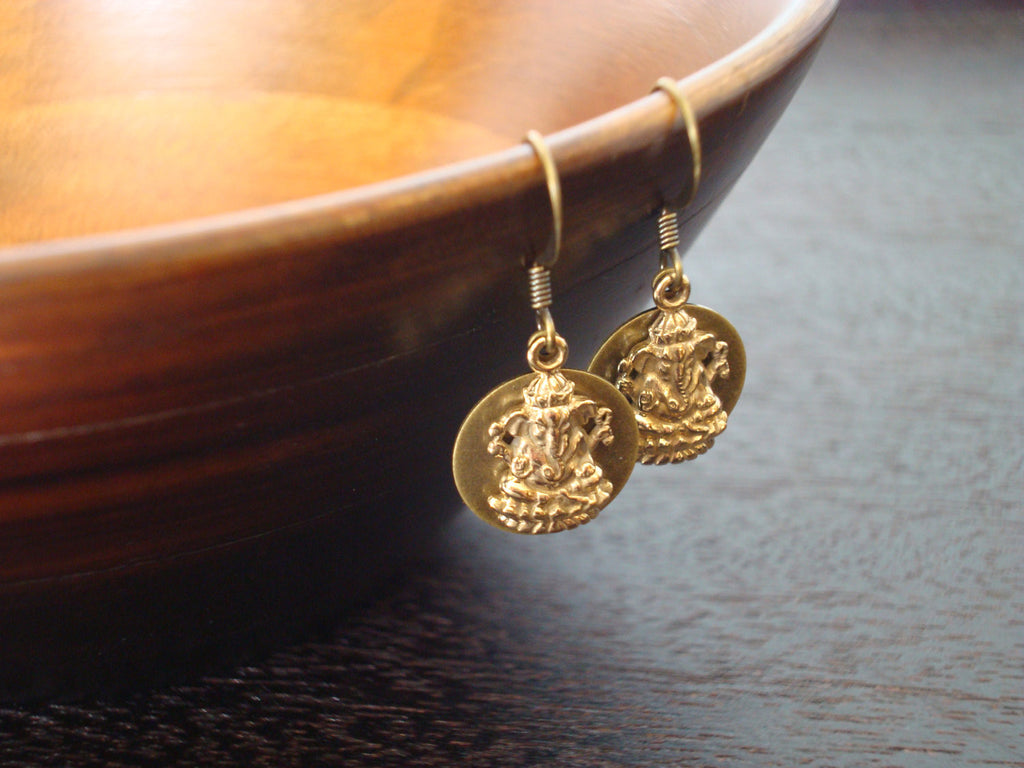 Women's Ganesha Good Luck Earrings