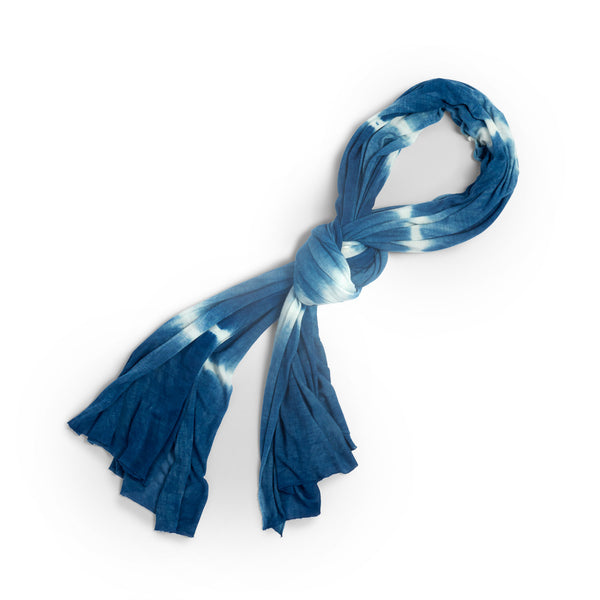 The Big Wrap in Indigo Shibori