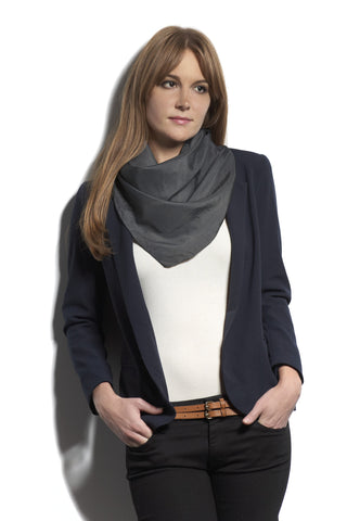The Big Silk Scarf in Charcoal
