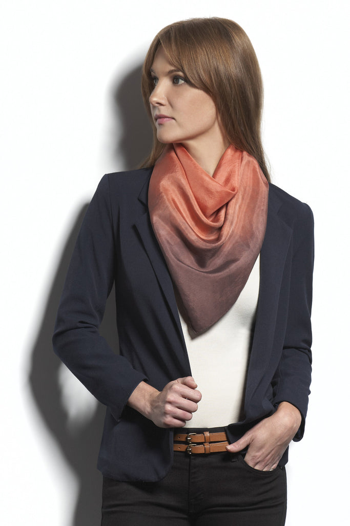The Big Silk Scarf Dip Dyed