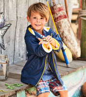 Hatley Navy & Yellow Splash Jacket