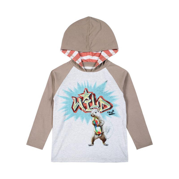 PWB-Hooded Raglan T-Be Wild