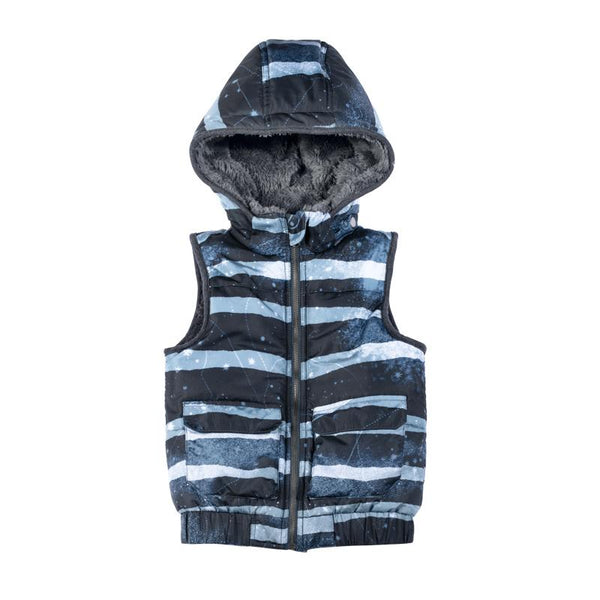 PWB-Puffer Vest-Rough Stripe