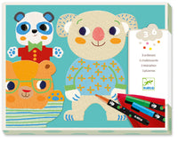 Djeco Colouring Cuties Chalkboards