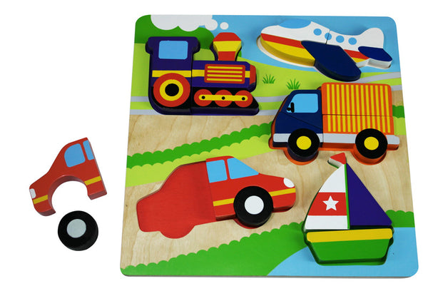 Kiddie Connect Chunky Wooden Transport Puzzle