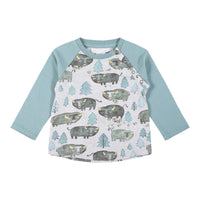Little Wings Boy -Raglan T-Bison