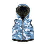 Little Wings Boy-Padded Vest-Blue Camo