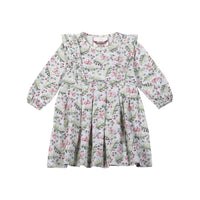 Little Wings Girls-Pleated Jersey Dress-Raspberry Dreams