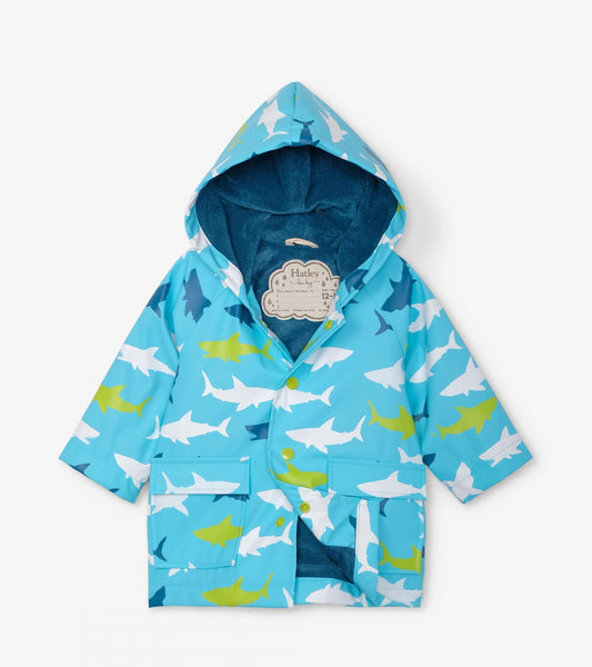 Hatley Baby Raincoat Great White Sharks