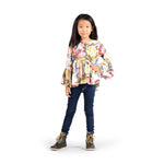 Paperwings Girl-Bell Sleeve Shirt-Winter Roses