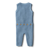 Wilson & Frenchy Faded Denim Knitted Rib Growsuit
