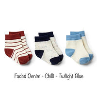 Wilson & Frenchy 3 Pack Baby Socks