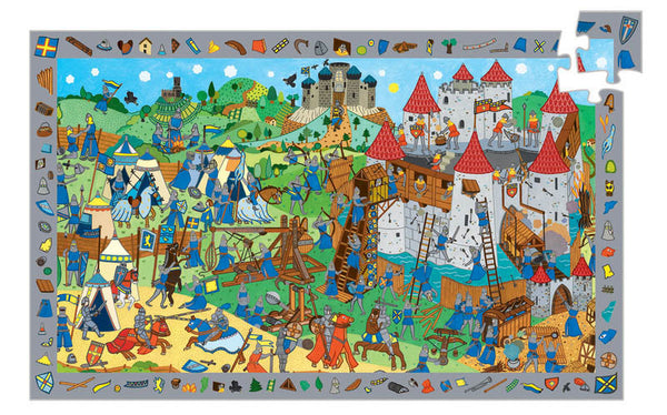 Djeco Chevaliers Observation Puzzle 54pc