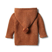 Wilson & Frenchy Toasted Pecan Rib Knitted Jacket