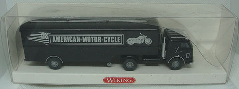 TRAILER AMERICAN MOTOR CYCLE HO 1:87 - WIKING - CAMION HO 1:87 -