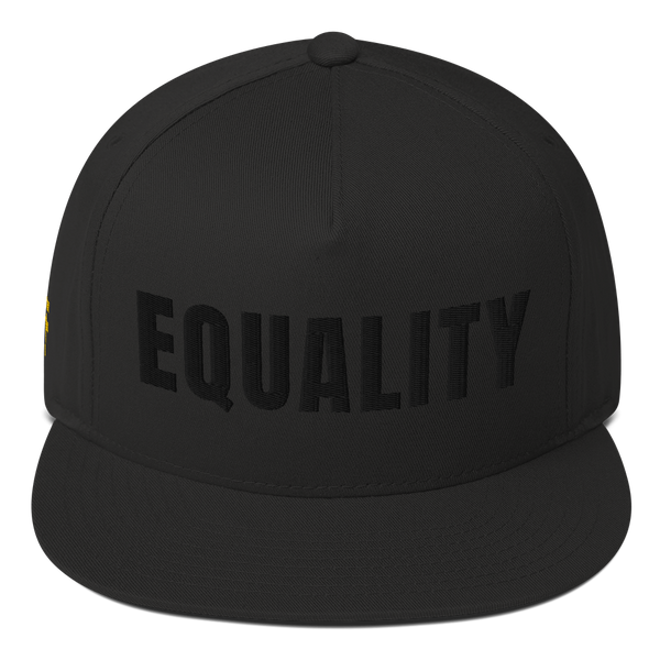 Equality snapback — black on black