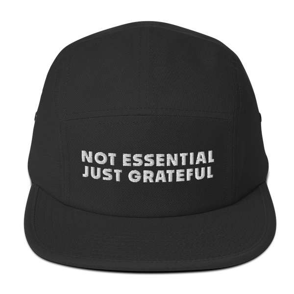 """Not Essential"" 5-panel cap"