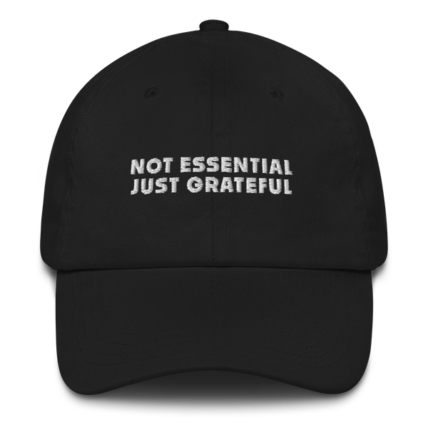 """Not essential"" dad hat"