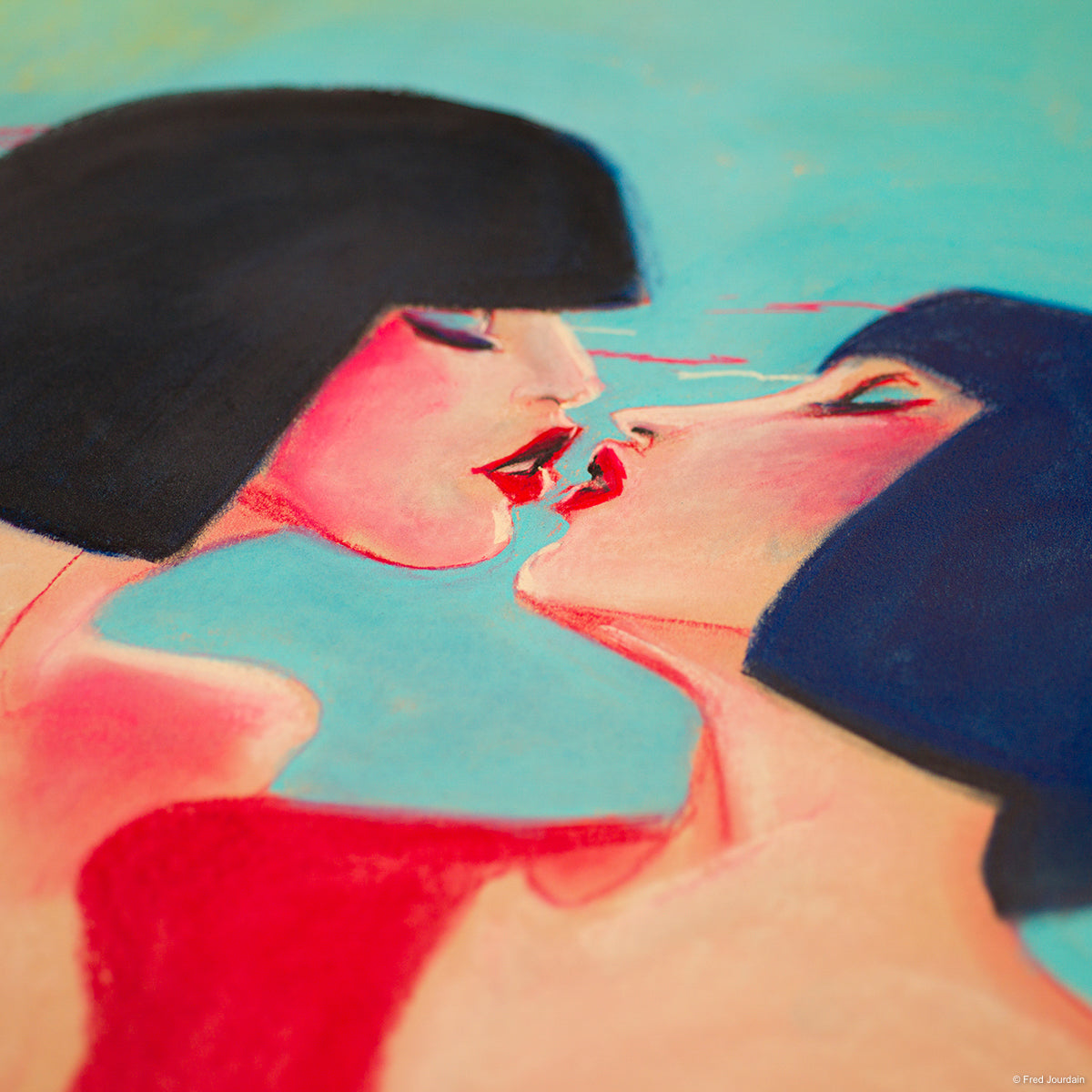 "Kiss in Technicolor - Pastel - 18 ""x 24"""