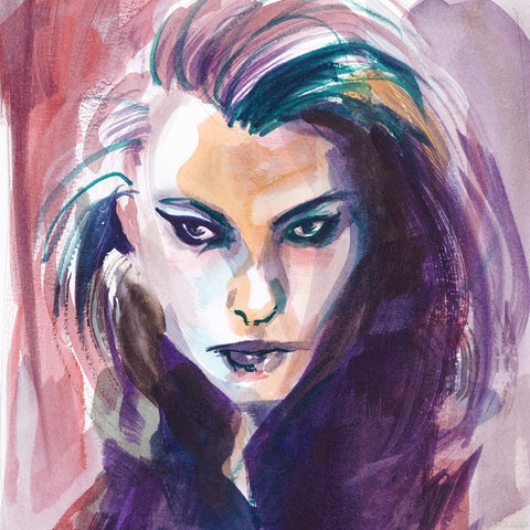"Fauve - watercolor - 9 ""x 12"""