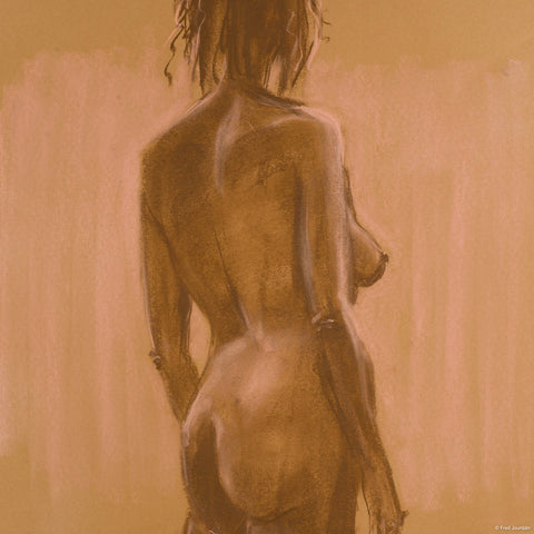 """Woman on a pink background - Pastel - 18 """"x 24"""""""
