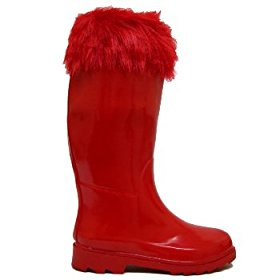 Fur top wellies