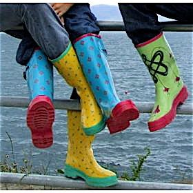 Contemporary Irish-designed Wellington boots