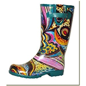 Jeffrey Campbell - Women's Artist Print Waterproof Rubber Rain Boots