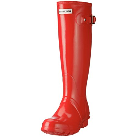 Red Gloss Hunter Wellies