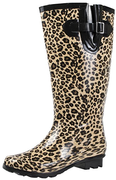 Wide fit Leopard Print Wellies