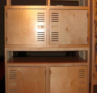 Rawstudios build cupboards, filing trays and any storage you wish entirely from plywood