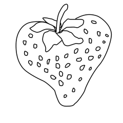 Strawberry Outline