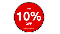 10% off discount sign