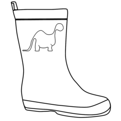 Dinosaur Wellies Outline