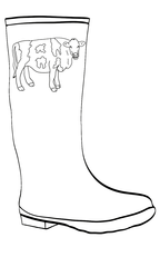 Cow Wellies Outline