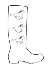 Wellington Boot Outline for Colouring-in