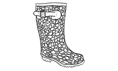 Jellybean Wellies Outline